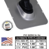 Stainless Steel Ultimate Pipe Flashing